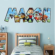 Paw Patrol Room Decor Paw Patrol Personalized Name Decal Wall Sticker Home