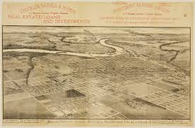 Map Topeka Ks Bird U0027s Eye View Of The City Of Topeka Shawnee County Kansas
