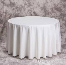 Where To Buy Table Linens - big size polyester white round table cloth wedding tablecloth