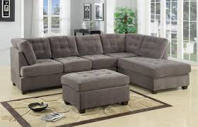 Right Sectional Sofa Burbank Charcoal Grey Waffle Suede Sectional Sofa With Right