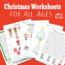 christmas worksheets for kids itsy bitsy fun
