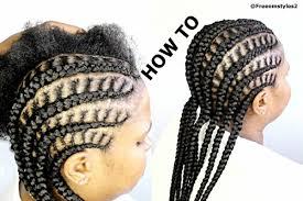 how to do simple cornrow braids youtube
