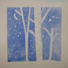 lost persons homeschool winter art