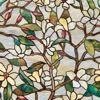Decorative Window Film Stained Glass Gorgeous Picture Of Cream Light Blue Stained Glass Decorative