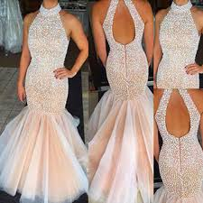 lolipromdress review lolipromdress chagne long high neck mermaid tulle pearl beaded