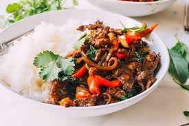cuisine tha andaise basil beef pad gra prow the woks of