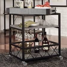 172 best bar carts images homesullivan grove place rustic pine bar cart with wine glass
