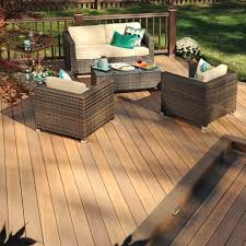 wheelchair accessible deck transitional with outdoor retreat