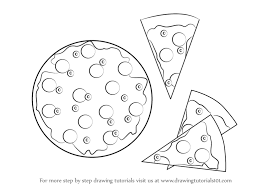 learn draw pizza slices pizza pizzas step step