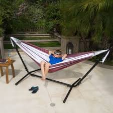 latitude run jaqueline outdoor portable hammock with stand