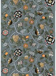 marimekko tiara cotton linen fabric grey blue yellow 1 4 yd