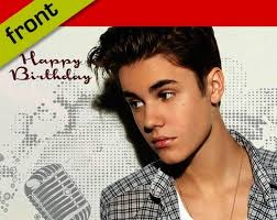 justin bieber signed birthday card amazon co uk kitchen u0026 home