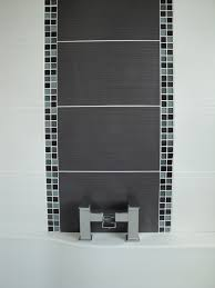 Grey Bathroom Tiles Ideas Mosaic Tile Feature Wall Bathroom Mesmerizing Interior Design Ideas