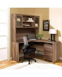Corner L Shaped Desk Great Deal On 1c100002lwl Walnut Corner L Shaped Desk With Hutch