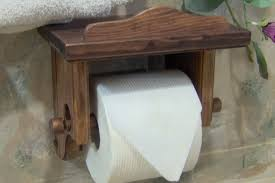 Toilet Paper Holder With Shelf Red Mahagony Toilet Paper Tissue Holder With Shelf Pine Wood