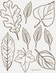 oak leaf pattern use the printable outline for crafts creating