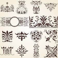 vector floral ornamental design elements free vector in