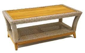 Teak Tables Wicker U0026 Natural Teak Outdoor Coffee Table