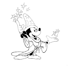 mickey the wizard disney coloring pages or print mickey
