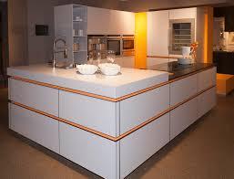 white orange modern kitchen