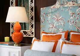 Turquoise And Orange Bedroom Eye For Design Decorating With The Blue Orange Color Combination