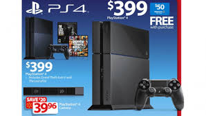 ps4 with free 50 gift card advertised in walmart black friday 2014 ad