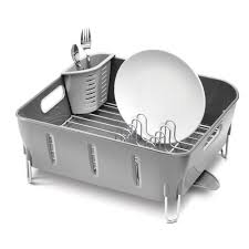 Dish Drainer Furniture Classy Simplehuman Dish Rack For Modern Kitchen Storage