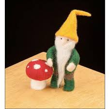 woolpets needle felting kit gnome
