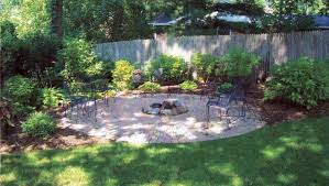 Backyard Stone Fire Pit by Exterior Best Backyard And Terraces Landscaping Design Ideas