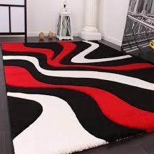 Wohnzimmer Design Rot Designer Teppich Rot Schwarz Design Teppiche