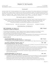resume technical summary cover letter example business analyst resume example business cover letter abap fresher resume sample templates sap bw bi analyst business summary insurance analystexample business