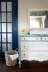 Shabby Chic Furniture Paint Colors by Gorgeous Changing Table Dresser In Nursery Shabby Chic With Front