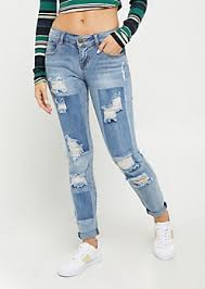 Light Wash Ripped Skinny Jeans Girls Jeans Rue21