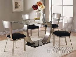 glass dining room chairs impressive table set 6 5 nightvale co