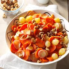 thanksgiving vegetable sides orange glazed carrots onions u0026 radishes recipe taste of home
