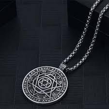 fashion pendant necklace images Men star of david pendant necklace stainless steel necklace roman jpg