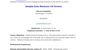 auto mechanic resume objective business agreements confidentiality