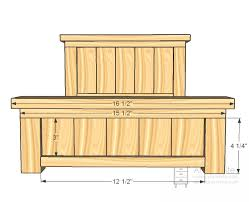 Wood Dollhouse Furniture Plans Free by Ana White Build A Doll Farmhouse Bed Free And Easy Diy Project