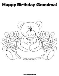 20 happy birthday grandma coloring pages celebrations printable
