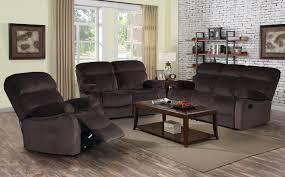 Reclining Living Room Sets Izabella Dark Chocolate Corduroy 3 Pc Reclining Sofa Set With