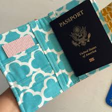 how to sew a passport wallet cover case youtube