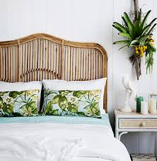 get rattan headboard for a tropical touch home decor 88