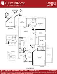 castle rock floor plans littleton savannah silver home plan by castlerock communities in