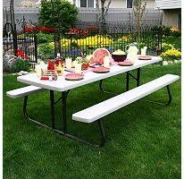 Commercial Picnic Tables by Lifetime 8 Foot Plastic Folding Commercial Picnic Table Model