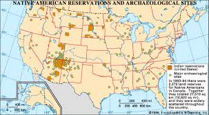 map usa indian reservations reservation american reservations britannica
