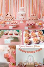 coral ivory and gold wedding candy bar from sweet treats candy