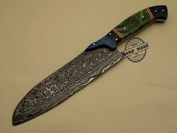 Damascus Kitchen Knives For Sale Damascus Chef Knives Set Custom Handmade Damascus Steel Kitchen