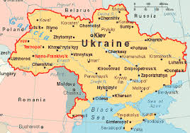 map ukraine of ukraine