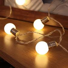 Bulb Lights String by Mini Festoon String Lights Battery Operated Frosted Bulb 10