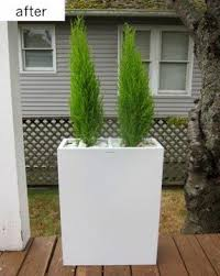 Tall Galvanized Planter by Large Metal Planter Boxes Foter